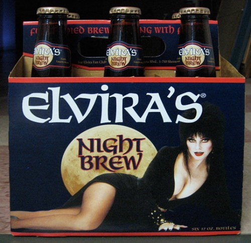 Elvira makes a witches brew