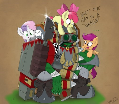 ork warhammer cute cutie mark rusaders - 8452878080