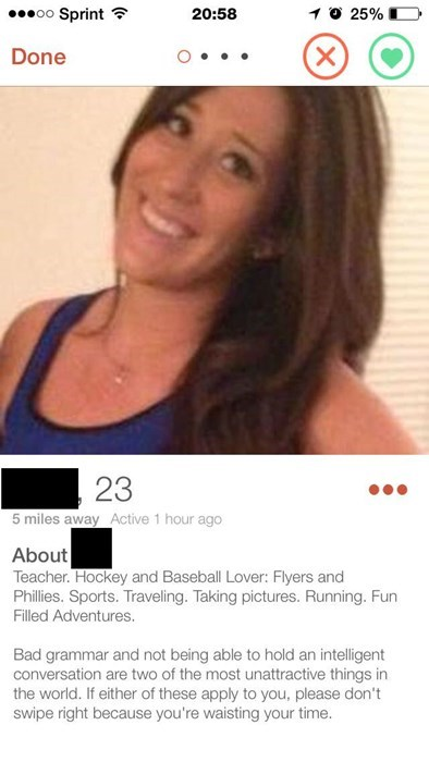 Online daters love correct grammar