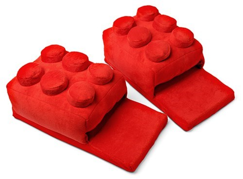 geeky merch lego house slippers