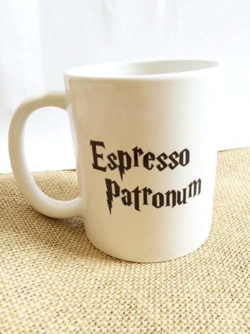 geeky merch harry potter espresso patronum mug