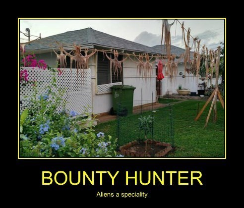 Aliens,bounty hunter,funny