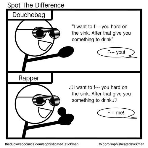 douchebags sad but true rappers web comics - 8453259776