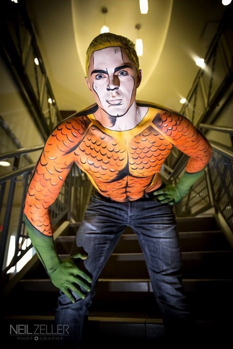 aquaman comic makeup cosplay