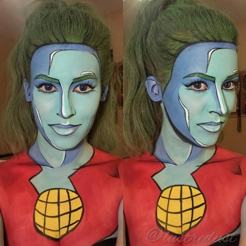 captain planet makeup cosplay
