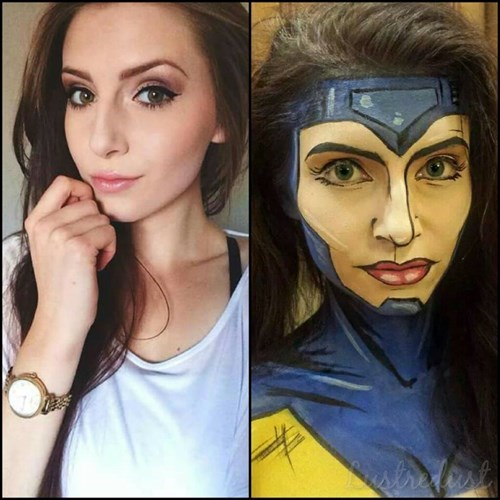 jean grey makeup cosplay