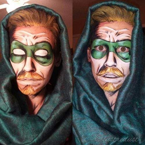 green arrow makeup cosplay