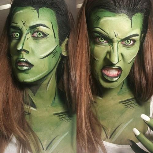 she hulk makeup cosplay