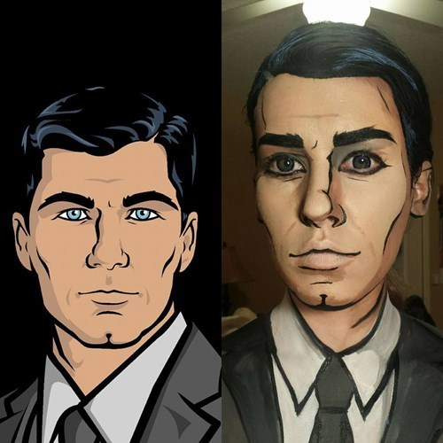 archer makeup cosplay