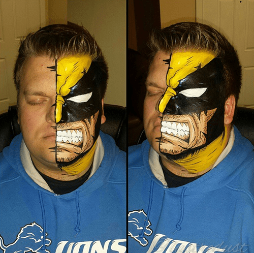 wolverine makeup cosplay