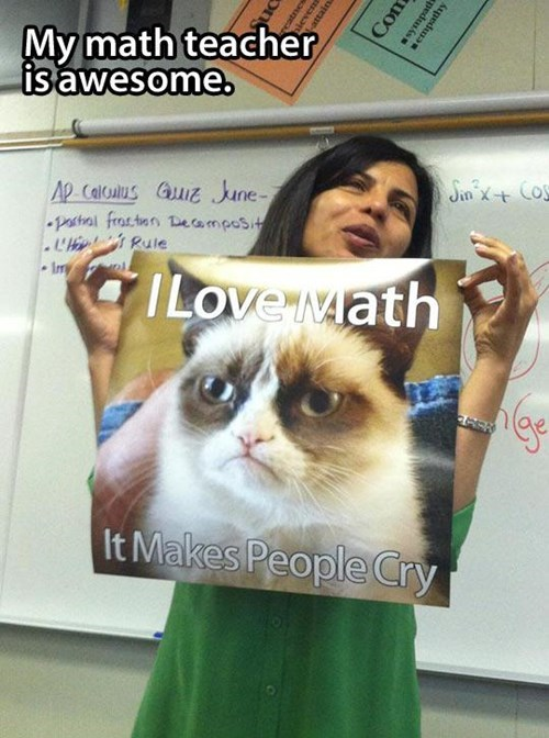 Cat - My math teacher is awesome. Cos Ap Calculus Gu June- pactral frastnn eamposit . Rule Imry ILove Math It Makes People Cry Com sympatdi Mempathy