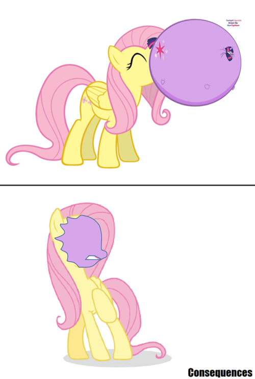 gum double the memes twilight sparkle fluttershy - 8453387008