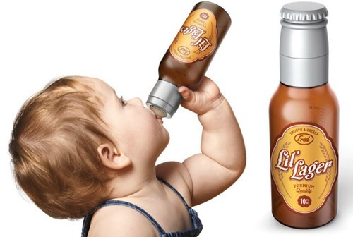 lil lager beer bottle for your baby.