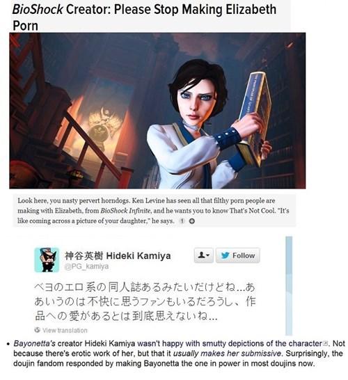 bayonetta gaming ideoligoies bioshock - 8453518848