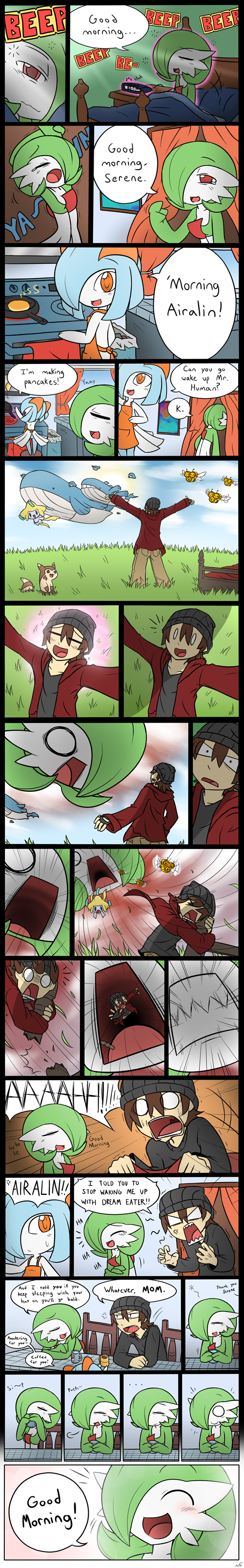 Pokémon,dream eater,gardevoir,web comics