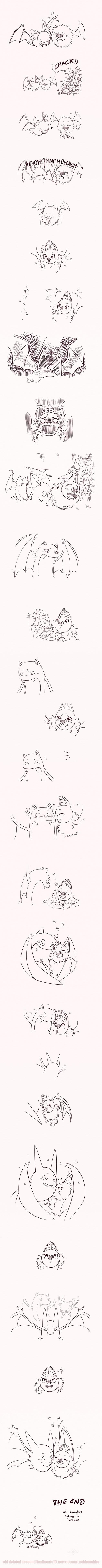 Pokémon,swoobat,bats,golbat