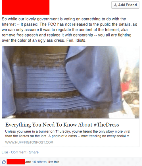 government conspiracy facepalm the dress failbook g rated - 8454234880
