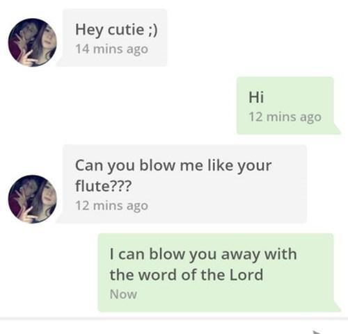 he's a terrible flirt