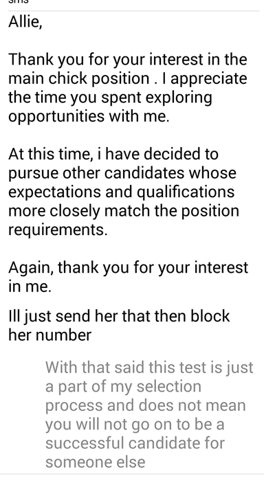 this would double the amount of rejection letters I already get