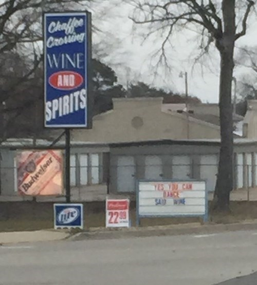 My kind of liquor store