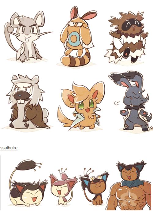 Pokémon Fan Art buff cute Professors - 8454383872