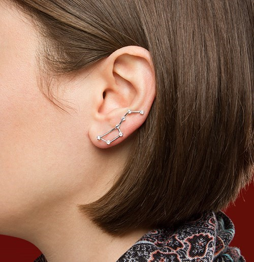 geeky merch constellation earrings