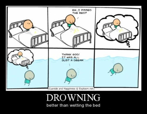 cool,bed,bed wetting,funny,drowning