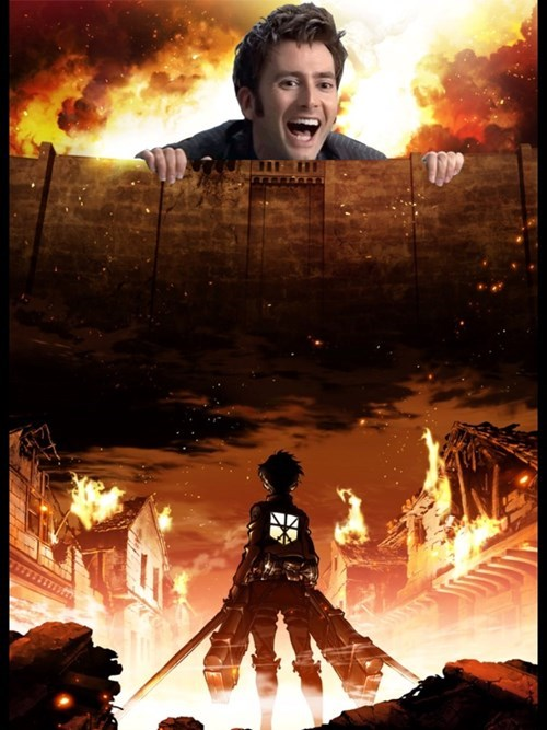 funny-doctor-who-david-tennant-attack-on-titan-time-lord