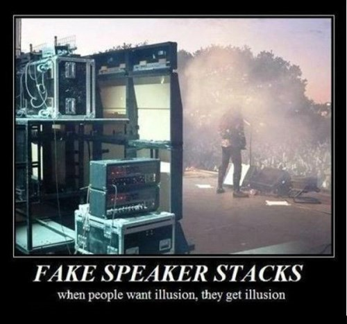 fake,funny,illusion,speaker