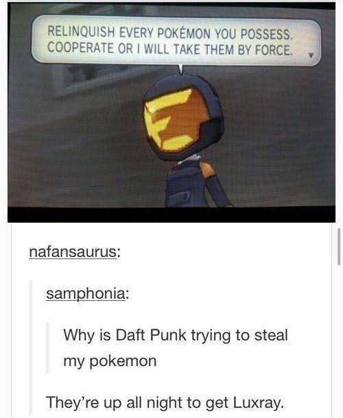 luxray,Pokémon,daft punk