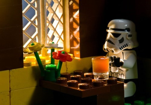 nothing like a nice pint after a storm trooper fights the rebel scum