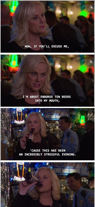 leslie knows what time it is.
