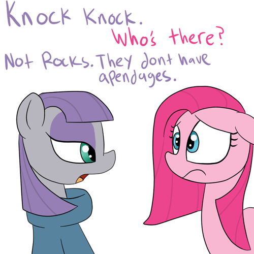 rocks jokes pinkie pie maud pie - 8455937792