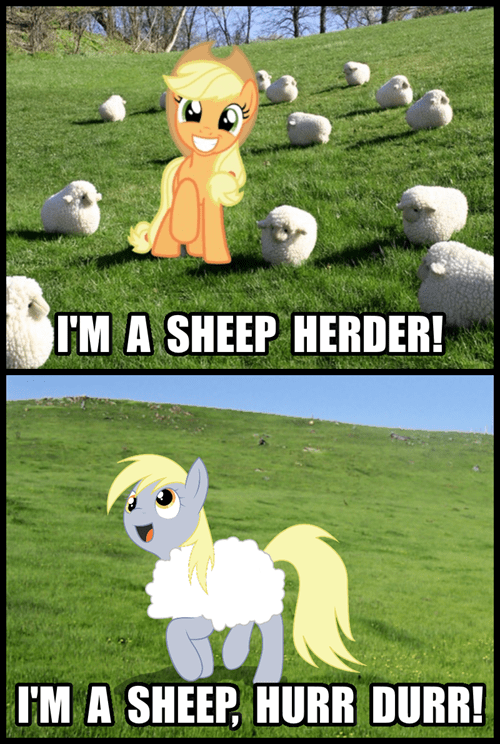 applejack derpy hooves sheep herder - 8455944960