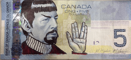 geek news spocking canadian currency