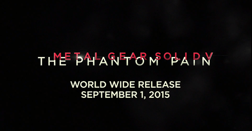 video game news metal gear solid v phantom pain release date