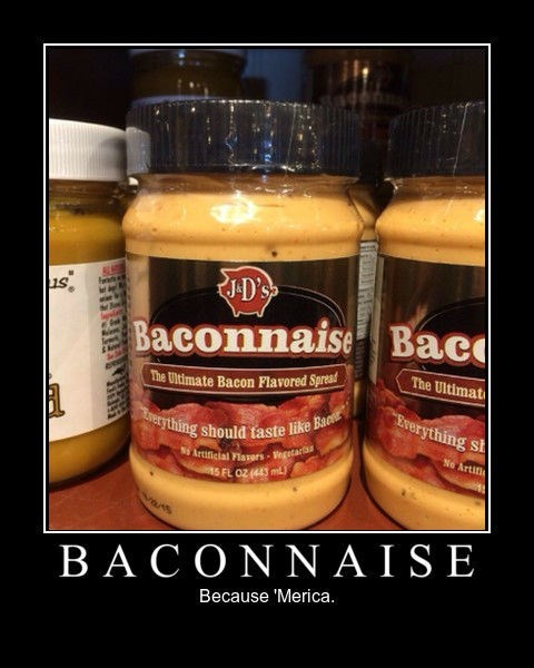 mayonnaise merica america bacon