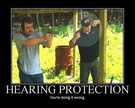 guns hearing idiots funny - 8456253184