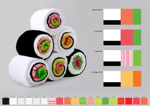 towel,sushi