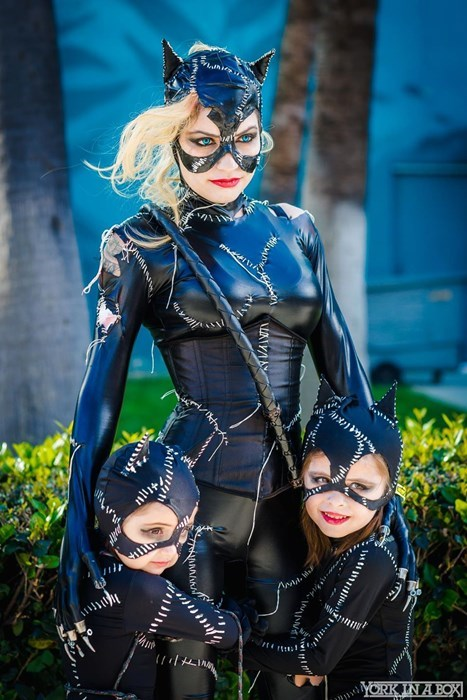 geeky cosplay catwoman kittens