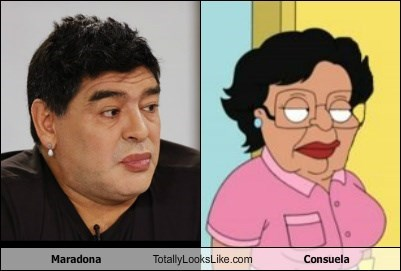 Maradona Totally Looks Like Consuela