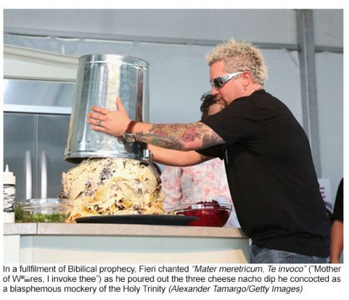 wtf cooking nachos Guy Fieri - 8456750080