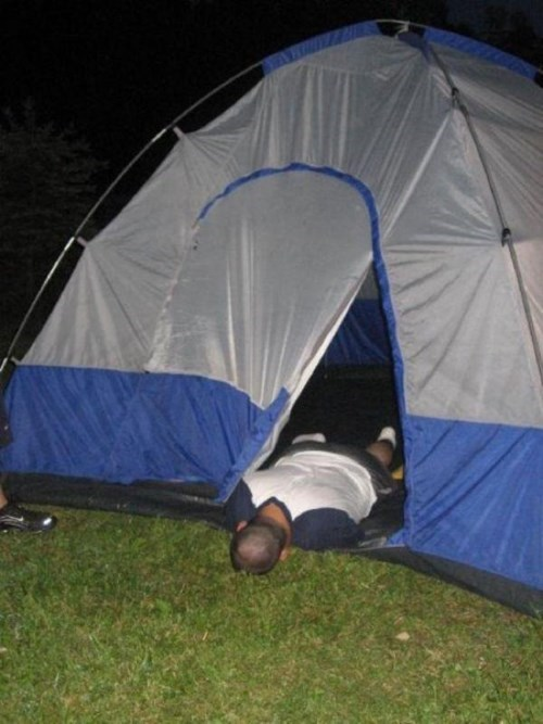 the joys of drunk camping
