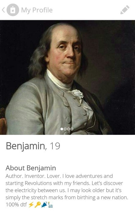 benjamin franklin the ideal candidate to date, but not for president