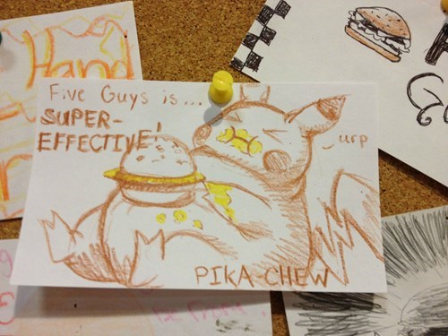Pokémon pikachu food five guys - 8456965632