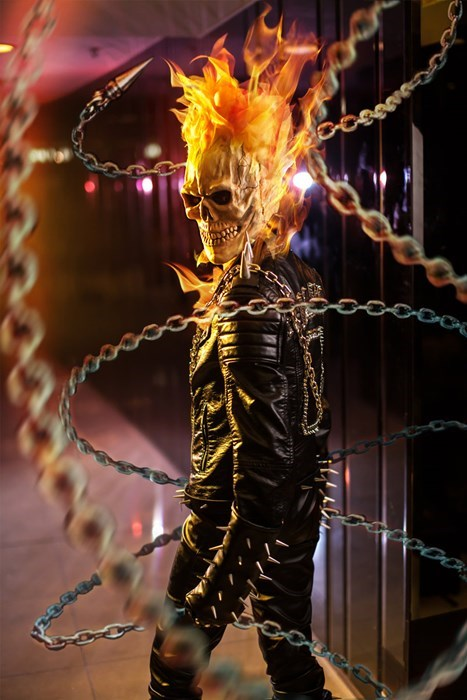 geeky cosplay ghost rider