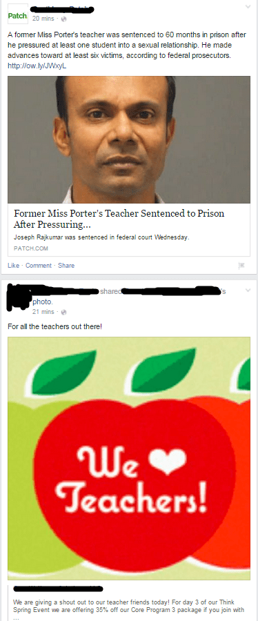 school whoops teachers Probably bad News juxtaposition failbook