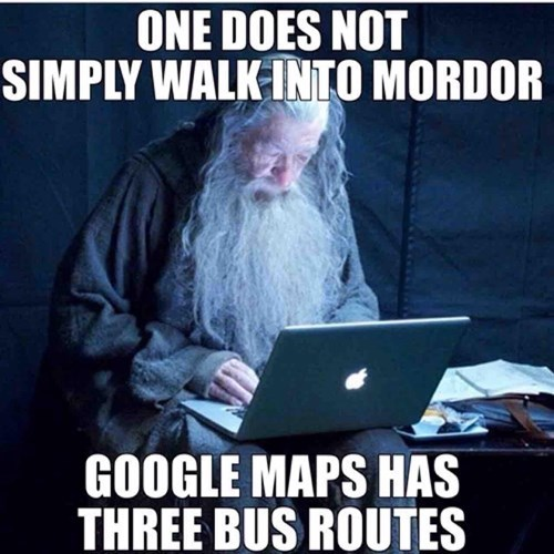 Lord of the Rings,google maps