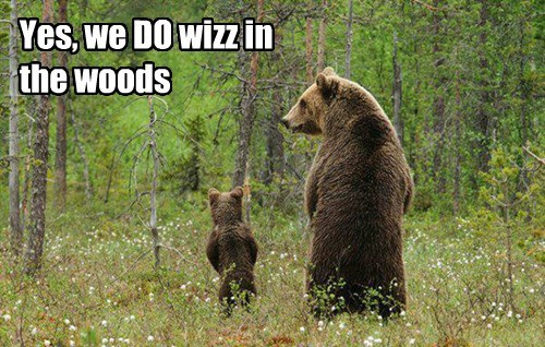 Yes, we DO wizz in the woods