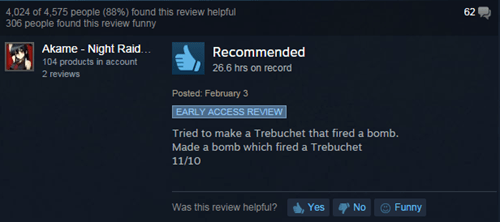 reviews,steam,user reviews,besiege